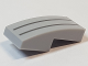 Part No: 11477pb050  Name: Slope, Curved 2 x 1 No Studs with 2 Silver Lines Pattern