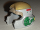 Part No: 11538pb04  Name: Minifigure, Headgear Helmet SW Rebel with Dark Tan, Gold and Green A-wing Pilot Pattern