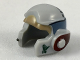 Part No: 11538pb05  Name: Minifigure, Headgear Helmet SW Rebel with Dark Tan, Dark Bluish Gray and Dark Red A-wing Pilot Pattern