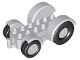 Part No: 15313c02  Name: Duplo Car Base 2 x 6 Tractor with Light Bluish Gray Front and Rear Wheels and Mudguards