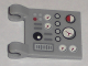 Part No: 2335pb061  Name: Flag 2 x 2 Square with Control Panel Pattern (Sticker) - Set 5971