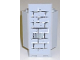 Part No: 2345pb08  Name: Panel 3 x 3 x 6 Corner Wall with Light Bluish Gray Full Brick Wall Pattern (Sticker) - Set 8813/8823