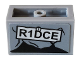 Part No: 23969pb003  Name: Panel 1 x 2 x 1 with Rounded Corners and 2 Sides with 'R1DCE' and Screw Pattern (Sticker) - Set 76078