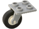 Part No: 2415c02  Name: Plate, Modified 2 x 2 Thin with Plane Single Wheel Holder and White Wheel with Black Tire (2415 / 3464 / 3139)