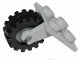 Part No: 2415c07  Name: Plate, Modified 2 x 2 Thin with Plane Single Wheel Holder and Dark Bluish Gray Wheel with Black Tire Offset Tread Small (2415 / 3464 / 87414)