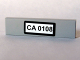 Part No: 2431pb061  Name: Tile 1 x 4 with 'CA 0108' Pattern (Sticker) - Set 10184