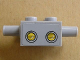Part No: 30000pb01  Name: Brick, Modified 2 x 2 with Pins and Axle Hole and Headlights Pattern (Sticker) - Set 3831