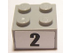 Part No: 3003pb082  Name: Brick 2 x 2 with Black  '2' Narrow Bold Font Pattern (Sticker) - Set 8896