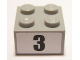 Part No: 3003pb083  Name: Brick 2 x 2 with Black  '3' Narrow Bold Font Pattern (Sticker) - Set 8896