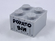 Part No: 3003pb107  Name: Brick 2 x 2 with Black 'POTATO BIN' Pattern