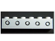 Part No: 3009pb169  Name: Brick 1 x 6 with 5 Portholes Pattern (Sticker) - Set 4981