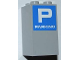 Part No: 30145pb008  Name: Brick 2 x 2 x 3 with White Letter P and 'PARKING' on Blue Background Pattern (Sticker) - Set 8186