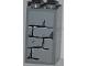 Part No: 30145pb009  Name: Brick 2 x 2 x 3 with Light Bluish Gray Bricks Pattern (Sticker) - Set 4183