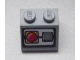 Part No: 3039pb068  Name: Slope 45 2 x 2 with Red Emergency Stop Push Button Pattern (Sticker) - Set 8639