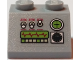 Part No: 3039pb086  Name: Slope 45 2 x 2 with Controls and Oscilloscope Display Pattern (Sticker) - Sets 7298 / 7477