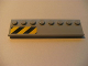 Part No: 30586pb01L  Name: Plate, Modified 2 x 8 with Door Rail with Black and Yellow Danger Stripes on Left Pattern (Sticker) - Set 7633