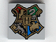 Part No: 3068bpb0092  Name: Tile 2 x 2 with Groove with Coat of Arms Hogwarts Pattern