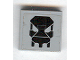 Part No: 3068bpb0402  Name: Tile 2 x 2 with Groove with Black Exo-Force Skull Pattern (Sticker) - Set 7709