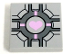 Part No: 3068bpb0689  Name: Tile 2 x 2 with Companion Cube Pink Heart Pattern