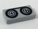 Part No: 3069bp02  Name: Tile 1 x 2 with Black Tape Reels Pattern