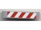 Part No: 32316pb002  Name: Technic, Liftarm 1 x 5 Thick with Red and White Danger Stripes Pattern (Sticker) - Set 8124