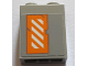 Part No: 3245cpb079R  Name: Brick 1 x 2 x 2 with Inside Stud Holder with Worn Orange and White Danger Stripes Pattern Left Wing Right Side (Sticker) - Set 75144