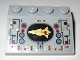 Part No: 3297pb035  Name: Slope 33 3 x 4 with Control Panel with Gold Spaceship Pattern (Sticker) - Set 8039