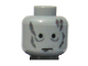Part No: 3626bpb0224  Name: Minifig, Head Male Scars Gray Left & Right, No Eyebrows Pattern (Darth Vader revised) - Blocked Open Stud