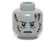 Part No: 3626cpb0412  Name: Minifig, Head Male Scars Gray Left & Right, Gray Eyebrows, White Pupils Pattern (Darth Vader) - Stud Recessed