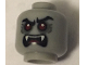 Part No: 3626cpb2240  Name: Minifigure, Head Alien with Red Eyes, Fangs, Angry Eyebrows, Mouth Open Pattern - Hollow Stud