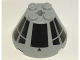 Part No: 3943bpb05  Name: Cone 4 x 4 x 2 with Axle Hole and SW Millennium Falcon Cockpit Pattern (Sticker) - Set 7778