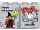 Part No: 4066pb019  Name: Duplo, Brick 1 x 2 x 2 with Halloween 2004 Brick or Treat / Happy Halloween Pattern (Legoland logo)