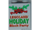 Part No: 4066pb286  Name: Duplo, Brick 1 x 2 x 2 with Holiday Block Party 2006 Pattern
