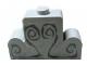 Part No: 4088pb01  Name: Brick, Modified 1 x 4 x 2 Center Stud Top with Dark Gray Engravings Pattern (Sticker) - Set 4766
