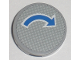 Part No: 4150pb038  Name: Tile, Round 2 x 2 with Blue Curved Arrow with White Outline Pattern (Sticker) - Set 7990