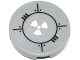 Part No: 4150pb144  Name: Tile, Round 2 x 2 with Bolted Plates and White Radioactivity Warning Pattern (Sticker) - Set 70707