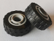 Part No: 42610c03  Name: Wheel 11mm D. x 8mm with Center Groove with Black Tire 17.5mm D. x 6mm with Shallow Staggered Treads - Band Around Center of Tread (42610 / 92409)