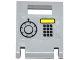 Part No: 4346pb27  Name: Container, Box 2 x 2 x 2 Door with Slot and Keypad, Yellow Rectangle and Safe Combination Dial Pattern (Sticker) - Set 60046