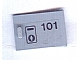 Part No: 4533pb003  Name: Container, Cupboard 2 x 3 x 2 Door with '101' & Keyhole Pattern (Sticker) - Set 6597