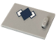 Part No: 4533pb019  Name: Container, Cupboard 2 x 3 x 2 Door with Dark Blue Argyle Pattern (Sticker) - Set 41232
