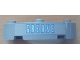 Part No: 48092pb002  Name: Brick, Round Corner 4 x 4 Macaroni Wide with 3 Studs and 'GREASE' Pattern (Sticker) - Set 8487