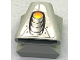 Part No: 50943pb09  Name: Vehicle, Air Scoop Top 2 x 2 with Exhaust Pipe on Silver Background Pattern (Sticker) - Set 8899