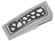 Part No: 50950pb078  Name: Slope, Curved 3 x 1 No Studs with Silver Crocodile Scales Pattern (Sticker) - Set 70126