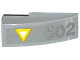 Part No: 50950pb082  Name: Slope, Curved 3 x 1 No Studs with Yellow and White Triangle and Silver '502' Pattern (Sticker) - Set 76032
