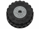 Part No: 55981c07  Name: Wheel 18mm D. x 14mm with Pin Hole, Fake Bolts and Shallow Spokes with Black Tire 37 x 14 (55981 / 35578)