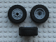 Part No: 55982c03  Name: Wheel 18mm D. x 14mm with Axle Hole, Fake Bolts and Shallow Spokes with Black Tire 30.4 x 14 VR Solid (55982 / 58090)