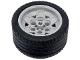 Part No: 56908c04  Name: Wheel 43.2mm D. x 26mm Technic Racing Small, 6 Pin Holes with Black Tire 56 x 28 ZR Street (56908 / 41897)
