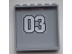 Part No: 59349pb061  Name: Panel 1 x 6 x 5 with '03' Pattern on Inside (Sticker) - Set 9486