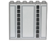 Part No: 59349pb150  Name: Panel 1 x 6 x 5 with SW Cloud City Gray Lines and Panels Wall Ornament Pattern (Sticker) - Set 75222