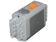 Part No: 59510c01  Name: Electric 9V Battery Box 4 x 11 x 7 PF with Orange Switch and Dark Bluish Gray Covers